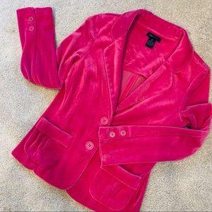 BCBG Max Azaria Crished Velvet Pocket Blazer
